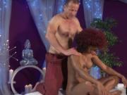Curly-haired Ebony Jasmine Web Gets Massaged And Fucked