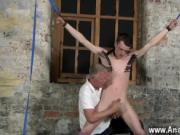 Hot gay With his sensitive nut tugged and his jizz-shot