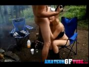 Mya Lane Giving Her Man a Blowjob While Camping