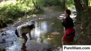 Hot chicks gets dirty with mud
