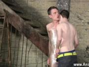 Gay guys Horny guy Sean McKenzie is already roped up, b