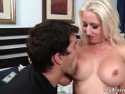 Hot sexy body nasty big boobed blonde whore Sammie Spad