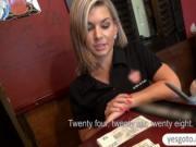 Kinky blonde bartender Rihanna Samuel railed in exchang