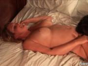 Hot blonde hoe gets her tight wet twat licked and finge