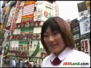 Cute Girl Does Bukkake In Public