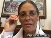 Hot Milf in glasses deepthroating black cock 1 by Expos
