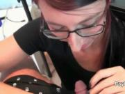 Nerdy amateur girlfriend fucking and sucking on video 1