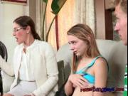 Stepmom Trains Stepdaughter To Suck A Big Cock