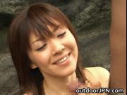 Arisa Kanno hot Asian babe gets hot outdoor sex 2 by ou