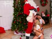 Alexis Fawx and Sophia Leone threesome with pervert San