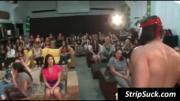 Party sluts share stripper\\\'s penis