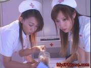 Aki Mizuhara and Misaki Asou big boobed Asian nurses 1