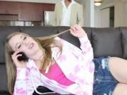 Teenie Riley Reynolds banged and creampied by her neigh