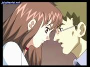 Anime rubs her clit and gets licked