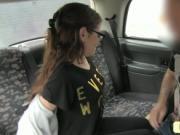 Petite amateur girl fucking in fake taxi