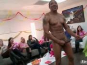 Nasty black stripper is so horny while he dance for tho