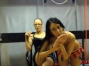 Obedient naughty slave gets spanked