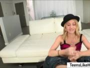 Tight teen Mandy Armani showered in cum