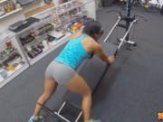 Muscular Latina Chick Spreads Eagle For Cash in pawn sh