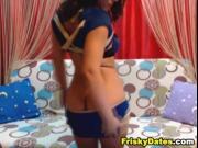 Sexy Latina Strokes her Tight Pussy