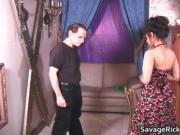 Sexy housewife Rosa is tied in ropes and gets her beaut