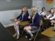 Naughty schoolgirls pounded by their sex education teac