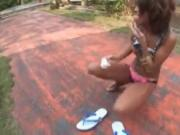 outdoor fuck Japanese tanned girl