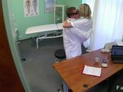 Busty blonde nurse fucking her doctor