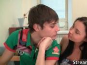 Great sexy body brunette slut Olga gets nasty and gets