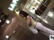 Asian Girl Wearing White Pants