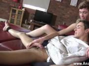 Gay porn He masturbates that intact dick to full hardne