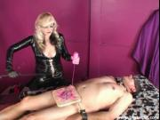 Blonde Mature Elaborate CBT and Flogging