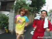 Asian redhead teen gets picked up for sex 1 by AmazingJ