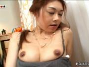 Sexy asian idol Misa Tachibana having fun with a vibrat