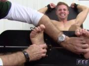 Blond twink foot and male feet gay porn movie Ticklish