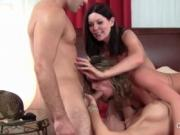 Teen stud gets cock fucked by three hot cougars