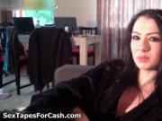 Sexy brunette babe gets horny smoking a cigar by SexTap