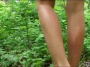 Czech girl Sasha Rose boned in the woods