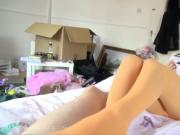 Asan schoolgirl in pantyhose