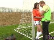 Short big tit brunette teen Dutch football player porke