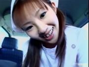 asian nurse sucks small cock 1 by JPNNurse