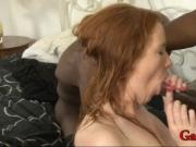 Busty ho Kiera Wilde DP with black dudes on the bed
