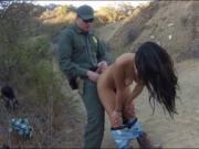 Tight Latin girl fucked on the border