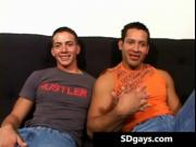 Muscled latin guy gets fucked up the ass after sucking