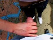 Czech girl Aneta nailed under the bridge for some cash