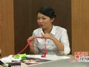 Subtitled CFNM Japanese news reporters risque handjobs