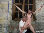 Gay boy sex school uniform Sean McKenzie is trussed up