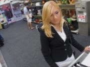 Sexy blonde milf pounded at the pawnshop
