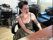 Awesome nasty brunette hottie have fun on webcam by Ind