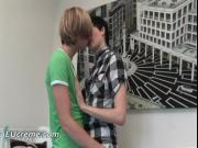 Two gays Jay LAmour and Taylor start making out by E
